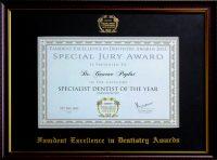01 Award Specialist Dentist of the Year Endodontist