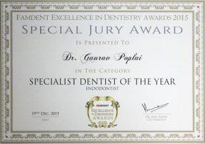02 Award Specialist Dentist of the Year Endodontist