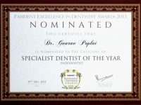 03 Nomination Specialist Dentist of the Year Endodontist