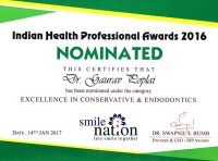 Nomination Excellence in Conservative and Endodontics