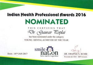 Nomination Young Dental Achiever of the Year